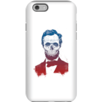 Balazs Solti Suited And Booted Skull Phone Case for iPhone and Android - iPhone 6S - Tough Case - Gl