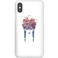 Balazs Solti Native Girl Phone Case for iPhone and Android - iPhone X - Snap Case - Gloss - Girl Gifts