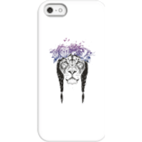 Balazs Solti Lion And Flowers Phone Case for iPhone and Android - iPhone 5/5s - Snap Case - Matte