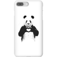 Balazs Solti Panda Love Phone Case for iPhone and Android - iPhone 8 Plus - Snap Case - Gloss - Love Gifts