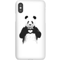 Balazs Solti Panda Love Phone Case for iPhone and Android - iPhone X - Snap Case - Gloss - Love Gifts