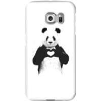 Balazs Solti Panda Love Phone Case for iPhone and Android - Samsung S6 Edge - Snap Case - Gloss - Love Gifts