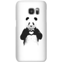 Balazs Solti Panda Love Phone Case for iPhone and Android - Samsung S7 - Snap Case - Gloss - Love Gifts