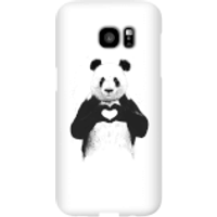 Balazs Solti Panda Love Phone Case for iPhone and Android - Samsung S7 Edge - Snap Case - Gloss - Love Gifts