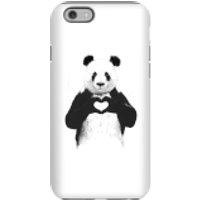 Balazs Solti Panda Love Phone Case for iPhone and Android - iPhone 6 - Tough Case - Gloss - Love Gifts