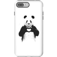 Balazs Solti Panda Love Phone Case for iPhone and Android - iPhone 7 Plus - Tough Case - Gloss - Love Gifts