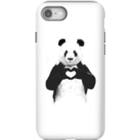 Balazs Solti Panda Love Phone Case for iPhone and Android - iPhone 8 - Tough Case - Gloss
