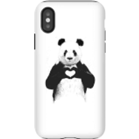 Balazs Solti Panda Love Phone Case for iPhone and Android - iPhone X - Tough Case - Gloss - Love Gifts