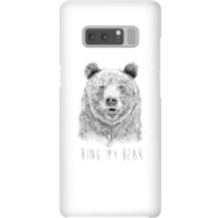 Balazs Solti Ring My Bear Phone Case for iPhone and Android - Samsung Note 8 - Snap Case - Gloss - Ring Gifts
