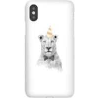 Party Lion Phone Case for iPhone and Android - iPhone X - Snap Case - Gloss - Party Gifts