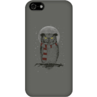 Balazs Solti Owl And Moon Phone Case for iPhone and Android - iPhone 5C - Snap Case - Matte - Owl Gifts