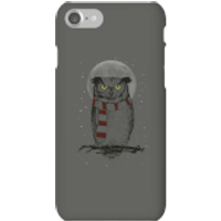 Balazs Solti Owl And Moon Phone Case for iPhone and Android - iPhone 7 - Snap Case - Matte - Owl Gifts