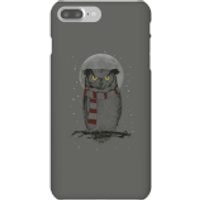 Balazs Solti Owl And Moon Phone Case for iPhone and Android - iPhone 7 Plus - Snap Case - Matte - Owl Gifts