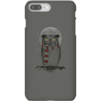 Balazs Solti Owl And Moon Phone Case for iPhone and Android - iPhone 8 Plus - Snap Case - Matte - Owl Gifts