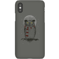 Balazs Solti Owl And Moon Phone Case for iPhone and Android - iPhone X - Snap Case - Matte - Owl Gifts