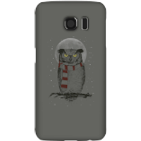 Balazs Solti Owl And Moon Phone Case for iPhone and Android - Samsung S6 - Snap Case - Matte - Owl Gifts