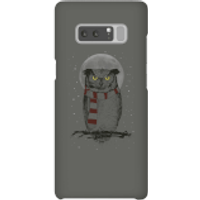 Balazs Solti Owl And Moon Phone Case for iPhone and Android - Samsung Note 8 - Snap Case - Matte - Owl Gifts