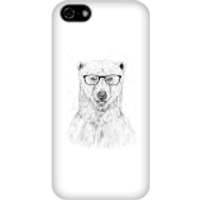 Polar Bear And Glasses Phone Case for iPhone and Android - iPhone 5C - Snap Case - Matte - Polar Bear Gifts