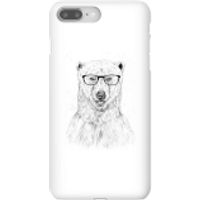 Image of Balazs Solti Polar Bear And Glasses Phone Case for iPhone and Android - iPhone 8 Plus - Snap Case - Matte