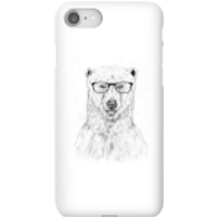 Balazs Solti Polar Bear And Glasses Phone Case for iPhone and Android - iPhone 8 - Snap Case - Gloss