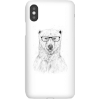 Balazs Solti Polar Bear And Glasses Phone Case for iPhone and Android - iPhone X - Snap Case - Gloss