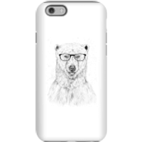 Balazs Solti Polar Bear And Glasses Phone Case for iPhone and Android - iPhone 6S - Tough Case - Glo