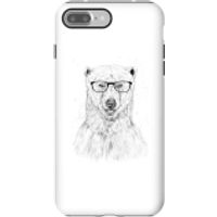 Balazs Solti Polar Bear And Glasses Phone Case for iPhone and Android - iPhone 7 Plus - Tough Case - Gloss