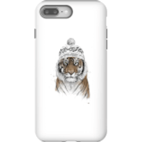 Balazs Solti Winter Tiger Phone Case for iPhone and Android - iPhone 8 Plus - Tough Case - Gloss - Tiger Gifts