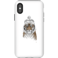 Balazs Solti Winter Tiger Phone Case for iPhone and Android - iPhone X - Tough Case - Gloss - Tiger Gifts