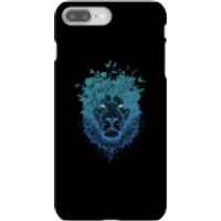 Balazs Solti Lion And Butterflies Phone Case for iPhone and Android - iPhone 8 Plus - Snap Case - Ma
