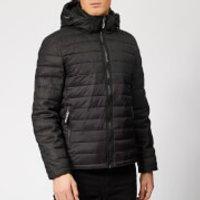 Superdry Men's Tweed Mix Fuji Jacket - Black Tweed Mix - XXL - Grey