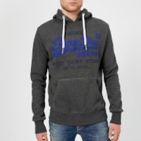 Superdry Men's Duo Hooded Sweatshirt - Charcoal - XXL - Grey