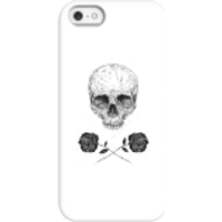 Balazs Solti Skull And Roses Phone Case for iPhone and Android - iPhone 5/5s - Snap Case - Matte - Roses Gifts