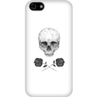 Balazs Solti Skull And Roses Phone Case for iPhone and Android - iPhone 5C - Snap Case - Matte - Roses Gifts