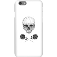 Balazs Solti Skull And Roses Phone Case for iPhone and Android - iPhone 6S - Snap Case - Matte - Roses Gifts