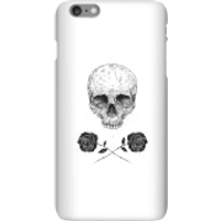 Balazs Solti Skull And Roses Phone Case for iPhone and Android - iPhone 6 Plus - Snap Case - Matte - Roses Gifts