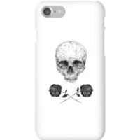Balazs Solti Skull And Roses Phone Case for iPhone and Android - iPhone 7 - Snap Case - Matte - Roses Gifts