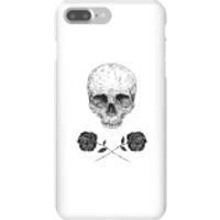 Balazs Solti Skull And Roses Phone Case for iPhone and Android - iPhone 7 Plus - Snap Case - Matte - Roses Gifts