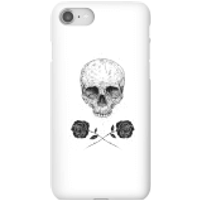 Balazs Solti Skull And Roses Phone Case for iPhone and Android - iPhone 8 - Snap Case - Matte - Roses Gifts
