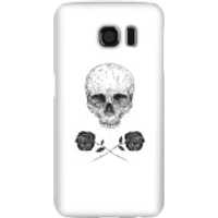 Balazs Solti Skull And Roses Phone Case for iPhone and Android - Samsung S6 - Snap Case - Matte