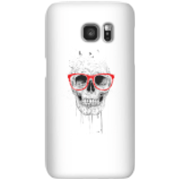 Balazs Solti Skull And Glasses Phone Case for iPhone and Android - Samsung S7 - Snap Case - Matte