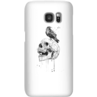 Balazs Solti Skull And Crow Phone Case for iPhone and Android - Samsung S7 - Snap Case - Matte