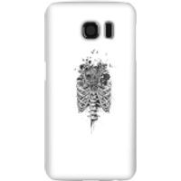 Balazs Solti Ribcage And Flowers Phone Case for iPhone and Android - Samsung S6 - Snap Case - Gloss