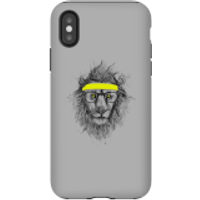 Balazs Solti Lion And Sweatband Phone Case for iPhone and Android - iPhone X - Tough Case - Gloss - Lion Gifts