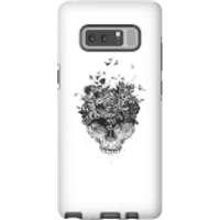 Balazs Solti Skulls And Flowers Phone Case for iPhone and Android - Samsung Note 8 - Tough Case - Gl