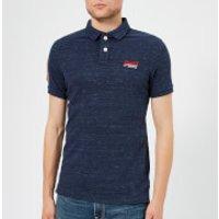 Superdry Men's Classic Pique Short Sleeve Polo Shirt - Montana Blue Grit - XXL - Blue