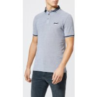 Superdry Men's City Oxford Short Sleeve Pique Polo Shirt - Grey - M - Grey
