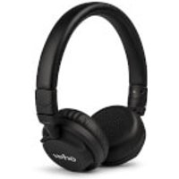 Veho Z4 On Ear Leather Finish Foldable Headphones with In-Line Control and Microphone - Black sale image
