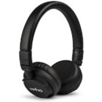 Veho ZB5 On Ear Leather Finish Bluetooth Wireless Foldable Headphones (Includes Controls and Mic) - Black sale image