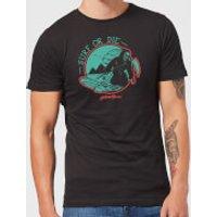 Native Shore Surf Or Die Men's T-Shirt - Black - 4XL - Black